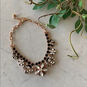 Kate Spade Crystal Statement Necklace in Rose Gold
